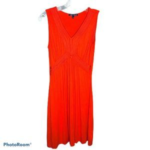 Cable & Gauge Red Midi Fit Flare Dress S